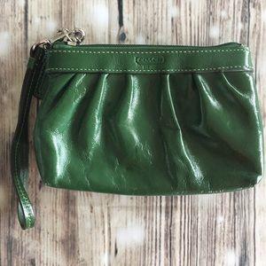 Coach Green Leather Wristlet